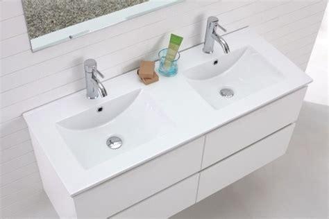 Madero-double Basin Wall Hung White Vanity-modern