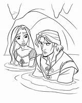 Coloring Flood Rapunzel Mother Gothel Pages Tangled Colorkid sketch template