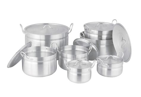 aluminium cookware cooking pot pots pans aluminum skillets frying chef yk disposable china