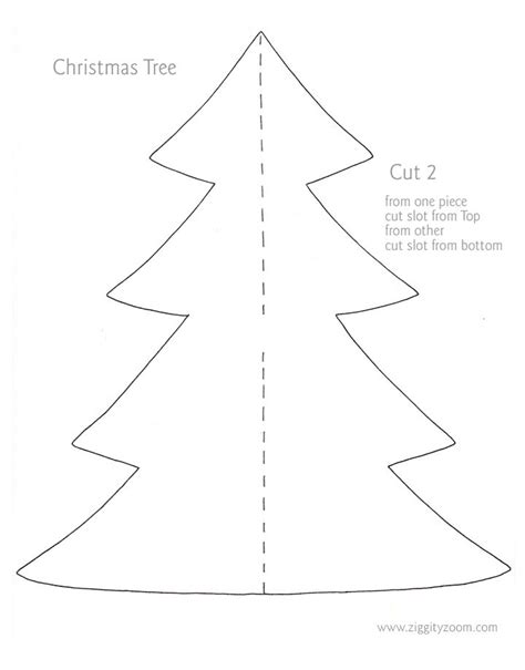 christmas tree template crafts winter ideas pinterest