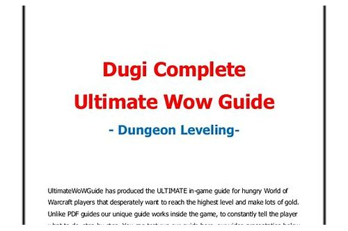 dugi leveling guide download