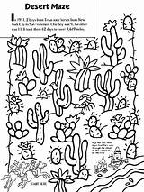 Desert Coloring Pages Maze Crayola Print Cactus Landscape Western Printable Sheets Drawing Google Texas River Colouring Boys Animals Deserts Southwest sketch template