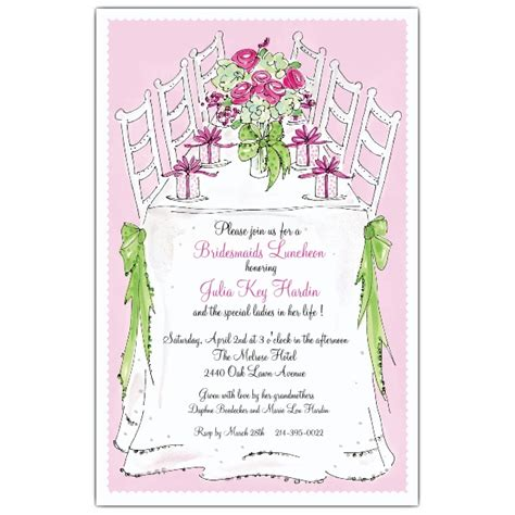 bridesmaids free bridesmaids luncheon invitations paperstyle