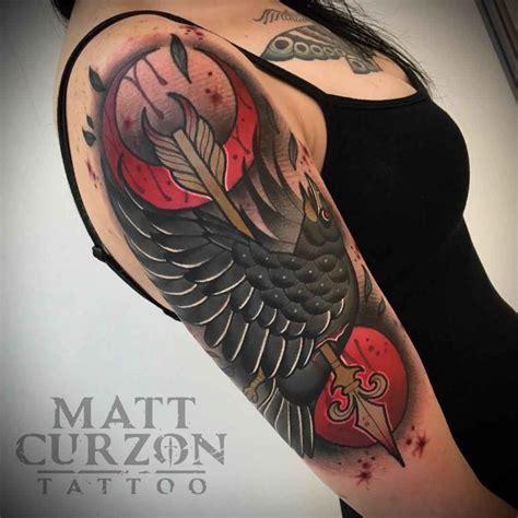 arrow shot crow tattoo  tattoo ideas gallery