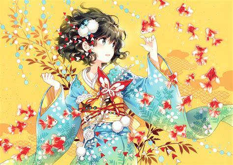 Anime Anime Girls Kimono Wallpapers Hd Desktop And