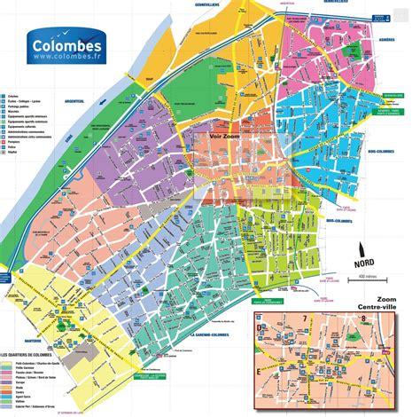 plan de colombes avec ses quartiers www