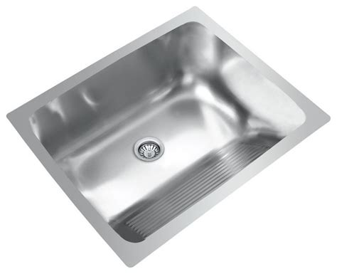 Undermount Laundry Sink With Washboard by Ukinox D610 457 Dual Mount Single Bowl Stainless Steel