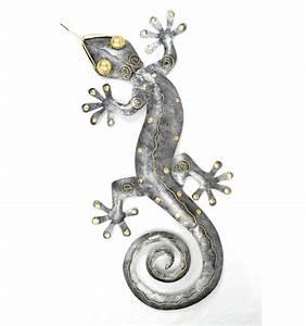 Décoration Murale En Fer : grand gecko margouillat d coration murale originale exotique fer forg ~ Teatrodelosmanantiales.com Idées de Décoration
