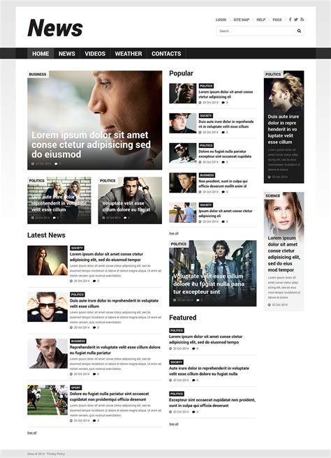 news site template free news portal responsive joomla template templates buy website templates web templates
