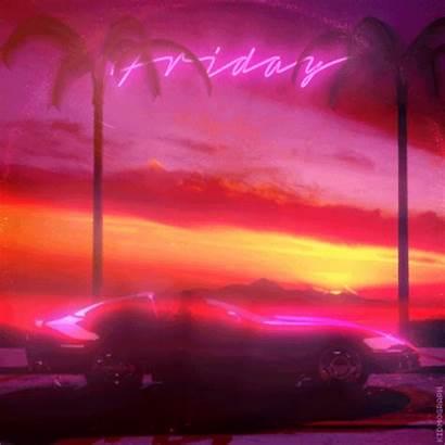 Retro Synthwave Kidmograph Gifs Neon Tgif Animated