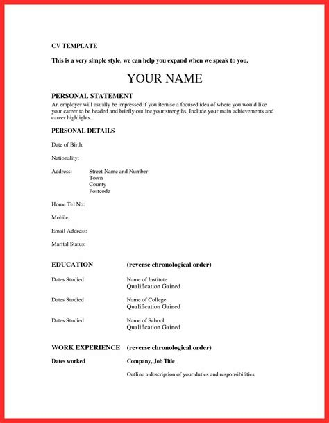 Simple Resume Sles by Paste Resume Format Resume Format