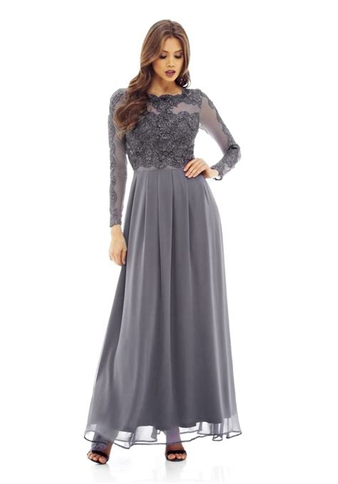 maxy longdress sleeved lace top maxi dress