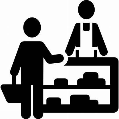 Shopping Groceries Icon Vendor Market Shopper Vector