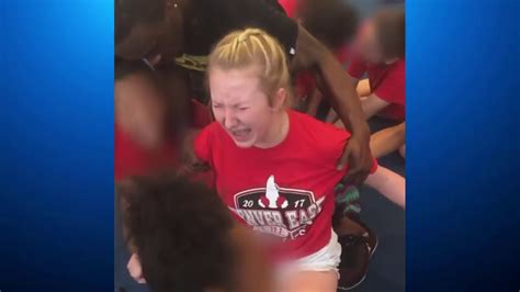 Cheerleader Violently Forced To Do Splits Youtube