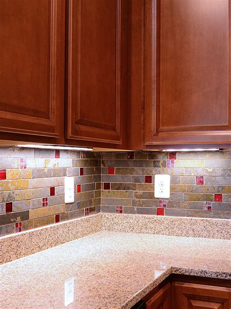 slate subway glass backsplash tile