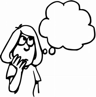 Thinking Clipart Think Drawing Bubble Child Head