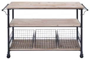 island carts for kitchen 3 shelf utility cart and baskets 4 set industrial