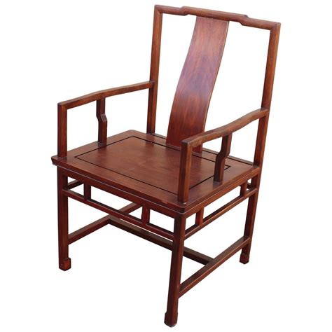 asian ming style yoke back solid rosewood chair for sale