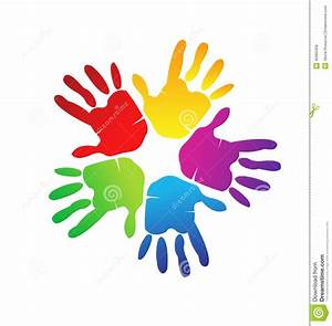Hands colorful logo stock vector. Illustration of ...