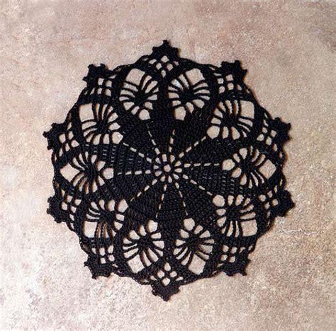 lace home decor black lace crochet doily new victorian style home decor