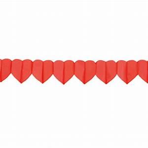 Guirlande Accroche Photo : guirlande de papier coeurs rouges 4 m prix minis sur ~ Teatrodelosmanantiales.com Idées de Décoration