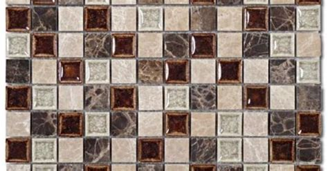 Glazzio Tiles Cloud Series by Mirage Glazzio Tranquil Series Coffee Mosaic Tile
