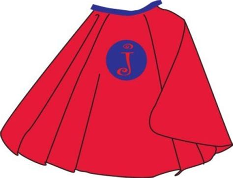 Boys Blue with Red Superhero Cape