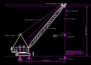 design cad cad drawing 20m clear height lattice boom crane