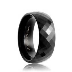 tungsten wedding band faceted tungsten rings tungsten wedding bands with facets