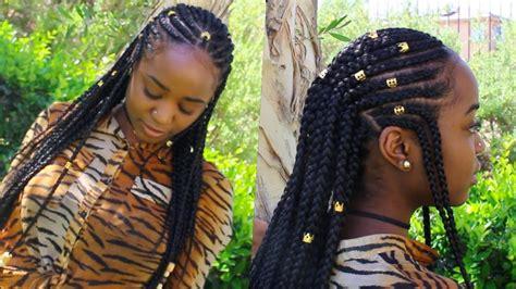 Braids & Beads ( Alicia Keys Inspired ) Hairstyle
