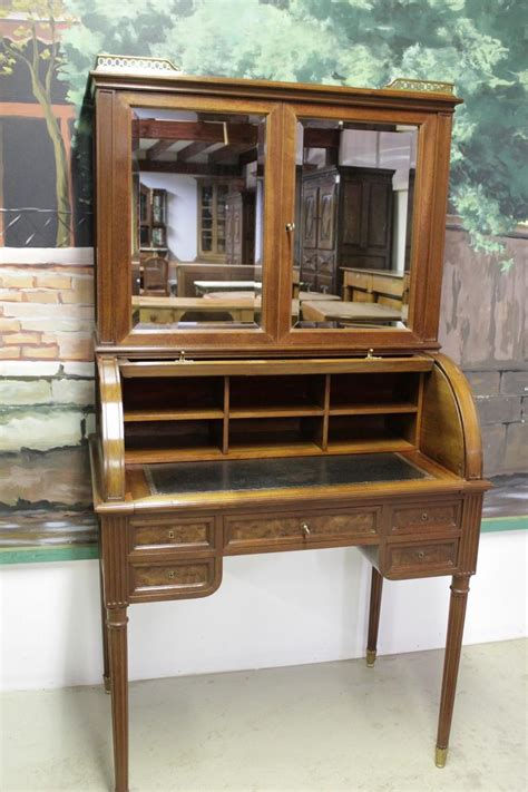 bureau en acajou bureau cylindre en acajou xixe antiquites lecomte