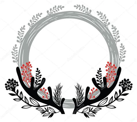 merry christmas round vector merry christmas round frame stock vector 169 nenilkime 30619891
