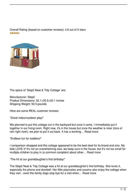 Step2 Neat Tidy Cottage Review By Yosemint Issuu