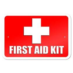 "First Aid Kit 9"" x 6"" Metal Sign"