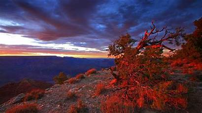 Canyon Grand Arizona Sunset National Park Usa
