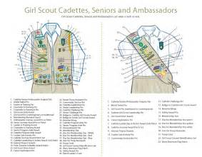 brownie vests diagram for cadette scout cadette troop 899