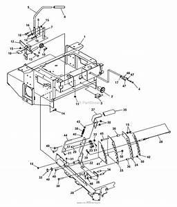 Bunton  Bobcat  Ryan 942211  52 Side Discharge Parts Diagram For Steering  Deck