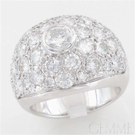 bague boule or blanc diamants taille moderne