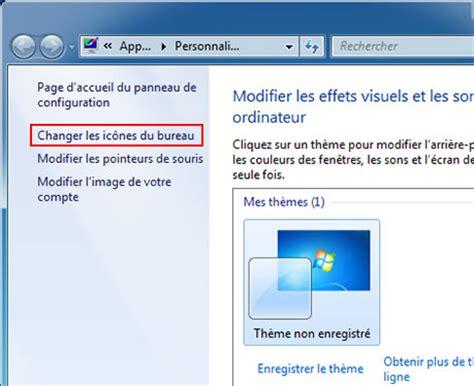comment changer les icones du bureau activer désactiver icônes de bureau windows 7