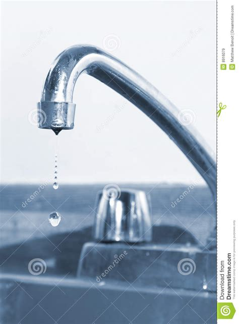 dripping faucet stock image image  flow monochrome