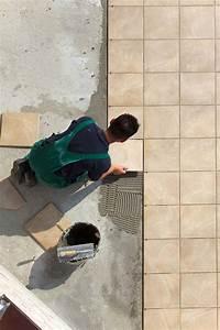 Laying tile on concrete floor gurus floor for How to put down hardwood floors on concrete