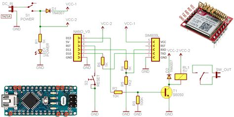 sim800l one channel sms relay