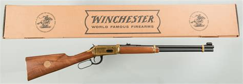 lot  winchester  commemorative lever action rifle