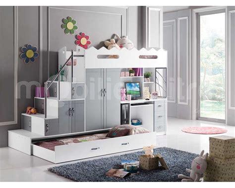 bureau de lit lit mezzanine avec bureau pas cher maison design