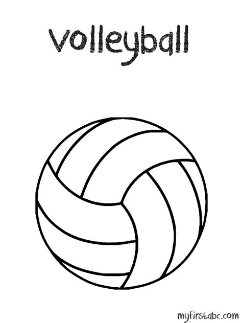 volley ball pictures coloring home
