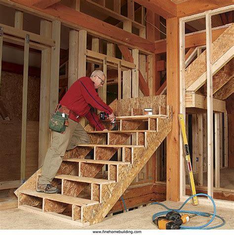 framing stairs   landing  shaped stairs garage stairs interior stairs