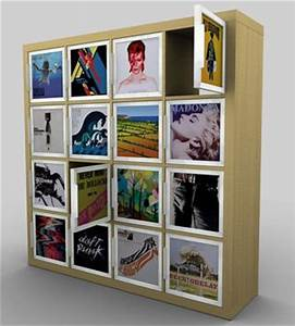 retro thing ikea helps store your records in style With kitchen cabinets lowes with album cover wall art
