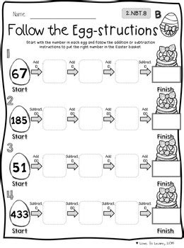 easter math printables differentiated   grade tpt