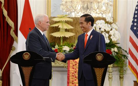vice president mike pence visits indonesia