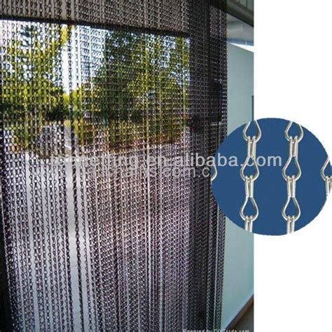 walk through door curtain chain link fly curtain view